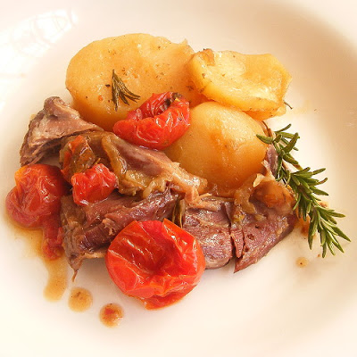 Slow-cooked Lamb Shanks with Potatoes & Tomatoes – Jane Anne Hobbs ...