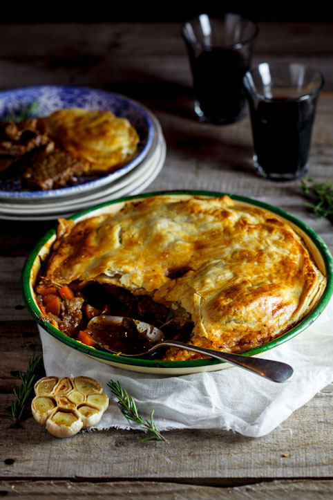 Alida Ryder's Slow cooked lamb, rosemary & roasted garlic pie