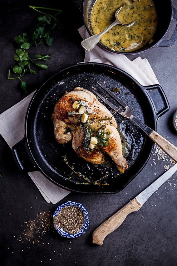 Alida Ryder's Pan roasted chicken with lemon garlic butter