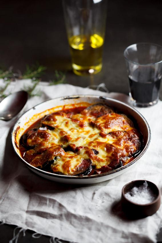 Alida Ryder's Aubergine Tomato & Mushroom Bake