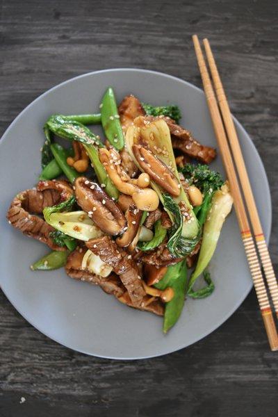 Carey Boucher Erasmus's Chinese-style Beef & Exotic Mushroom Stirfry