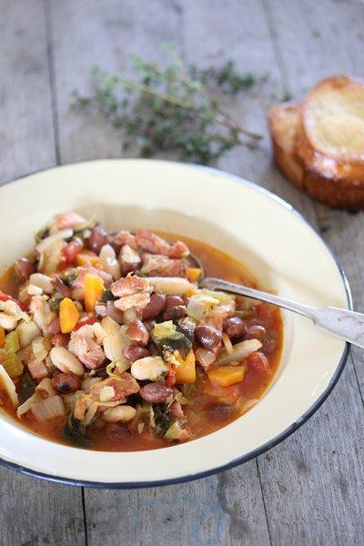 Carey Boucher's Smoky Pork, Bean & Vegetable Cassoulet