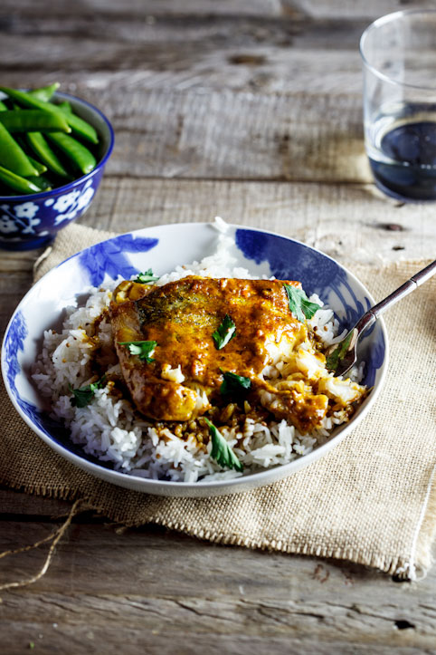 Alida Ryder's Curried Baked Hake Hake is a SASSI Friendly fish