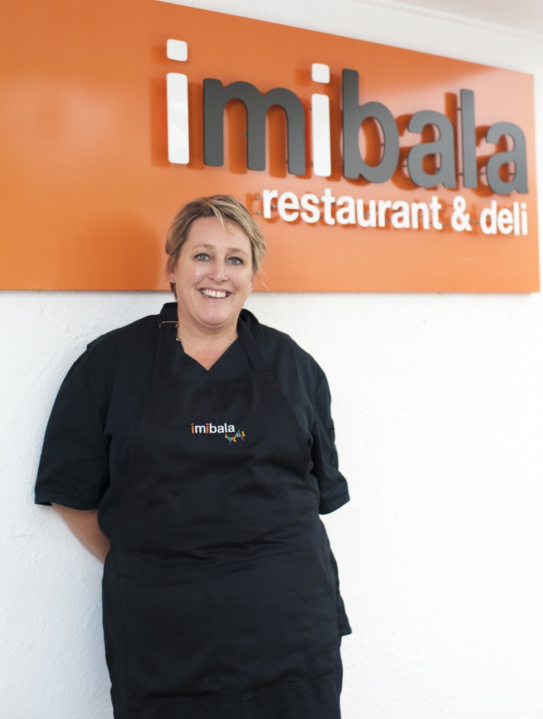 Nicole Dupper outside Imibala Restaurant & Deli