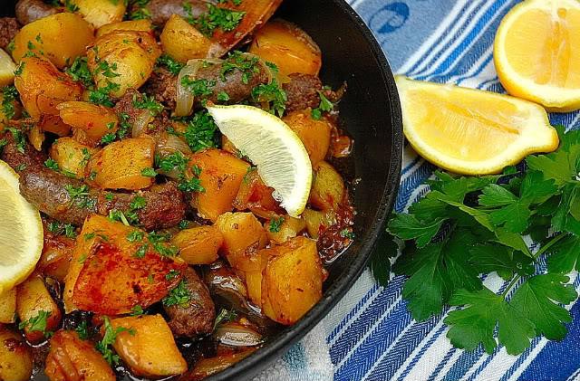 Nina Timm's Sausage Patatas Bravas