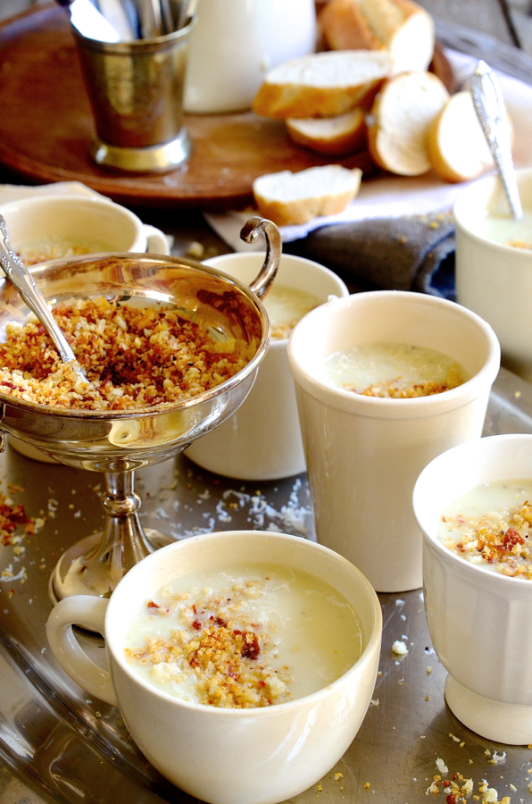 Dianne Bibby's Vichyssoise Soup with Parmesan crumble