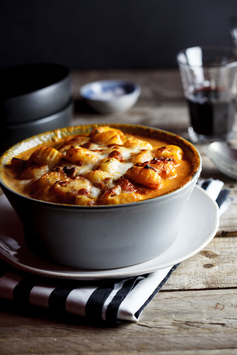 Alida Ryders Baked Gnocchi with bacon