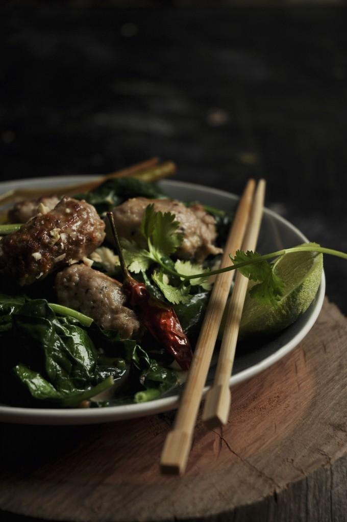 Nina Timms Easy Thai Pork & Spinach Curry