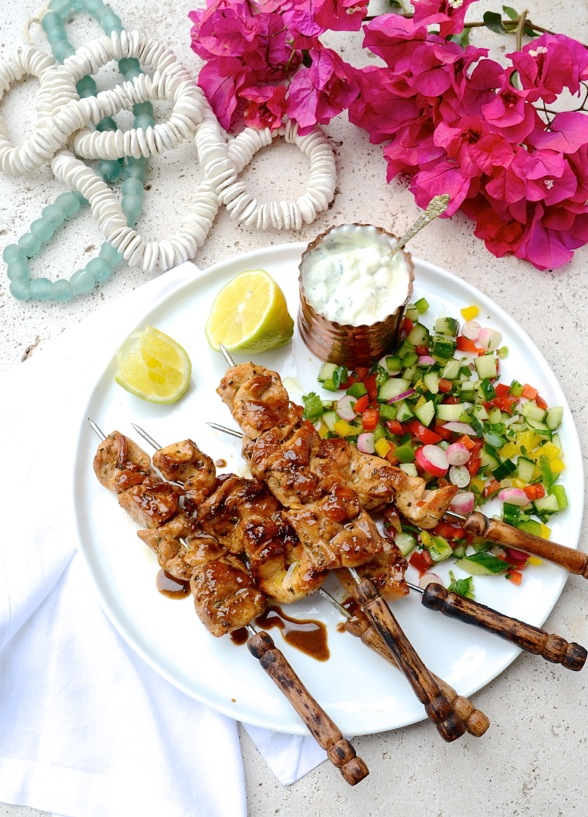 Dianne Bibbys Greek Chicken Kebabs