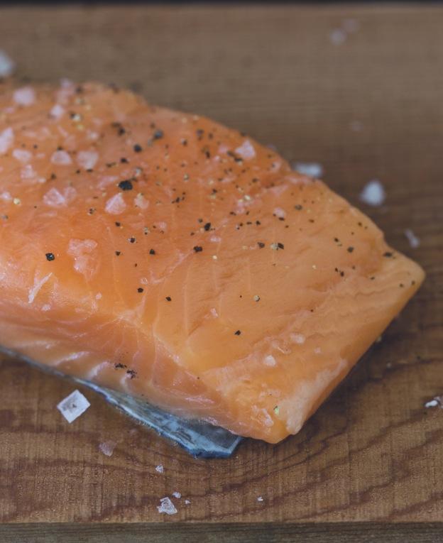 Jean Nels Salmon on a plank