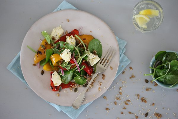 Carey Boucher Erasmuss Baked Feta & Grilled Pepper Salad