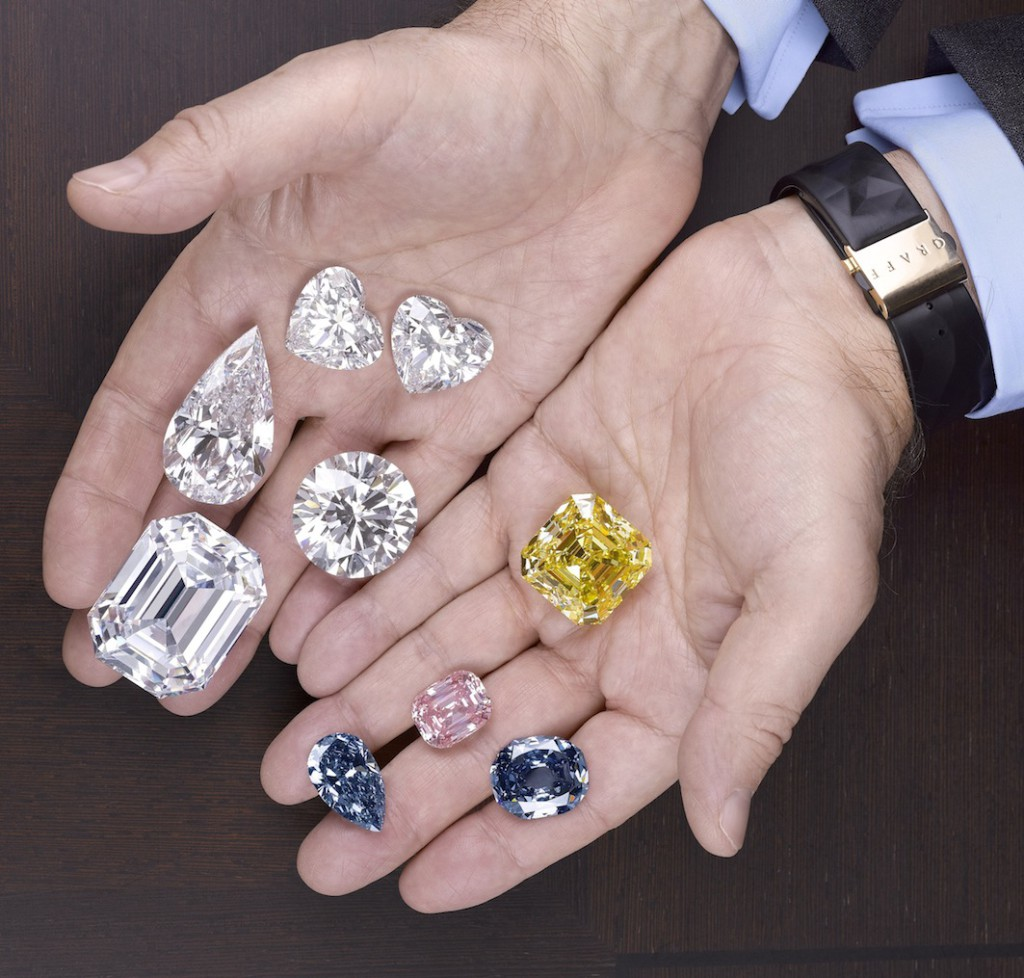 2. Laurence Graff holds a selection of the worlds most valuable gemstones