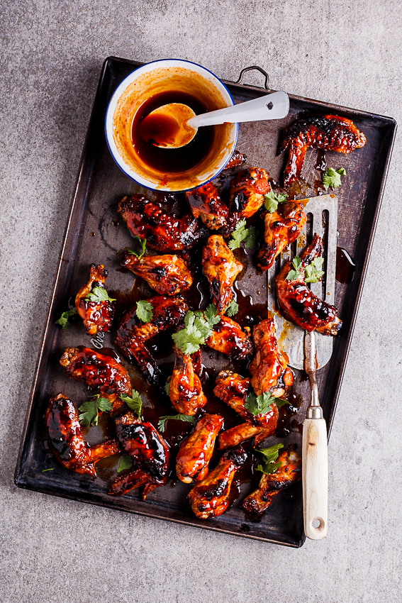 alida ryder s sticky sriracha honey chicken wings alida ryder makes ...