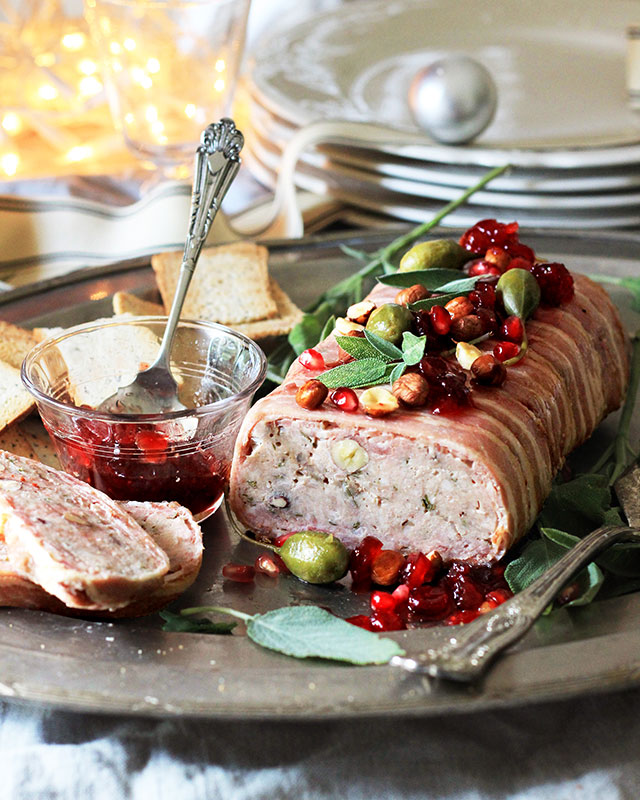 Lizet Hartleys Christmas Paté with hazelnuts, sage and brandy