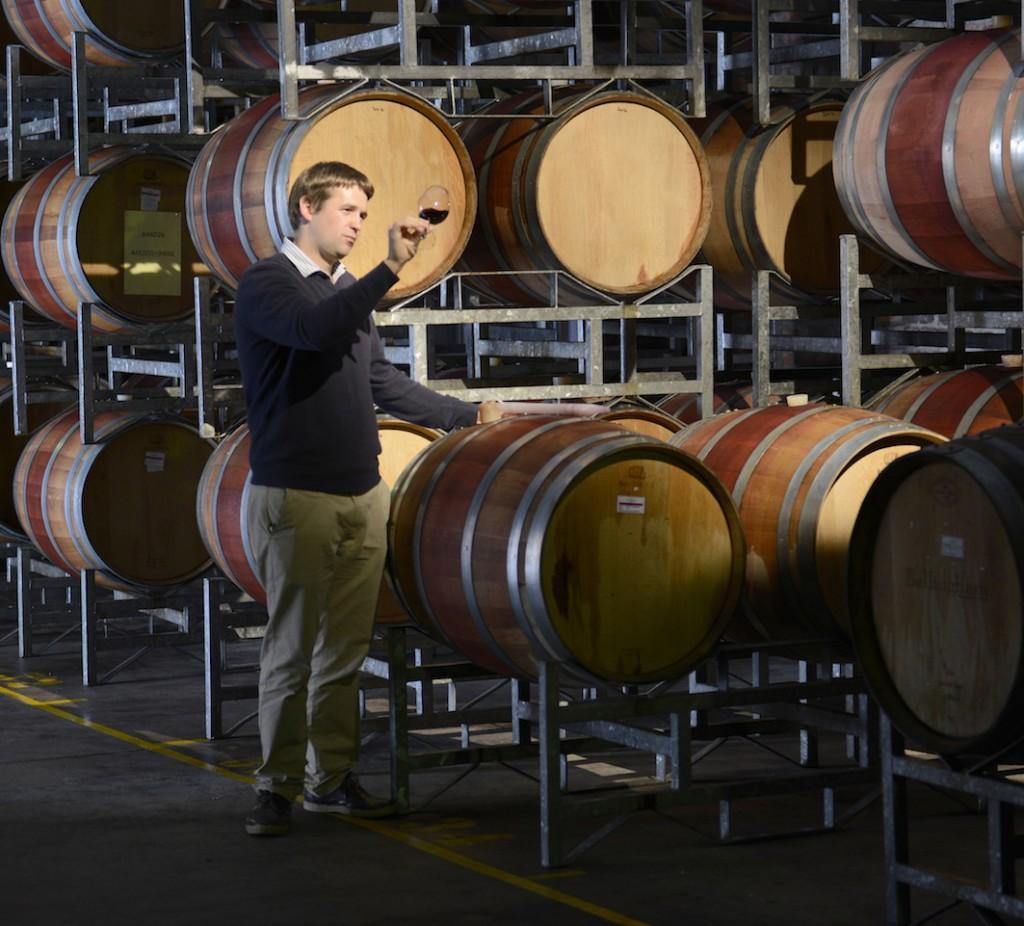 Richard Duckitt in Boschendals Red Wine Barrel Cellar