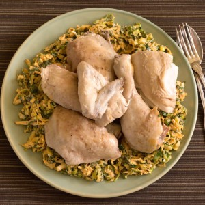 Roberta Muirs Steeped Chicken with Spicy Slaw