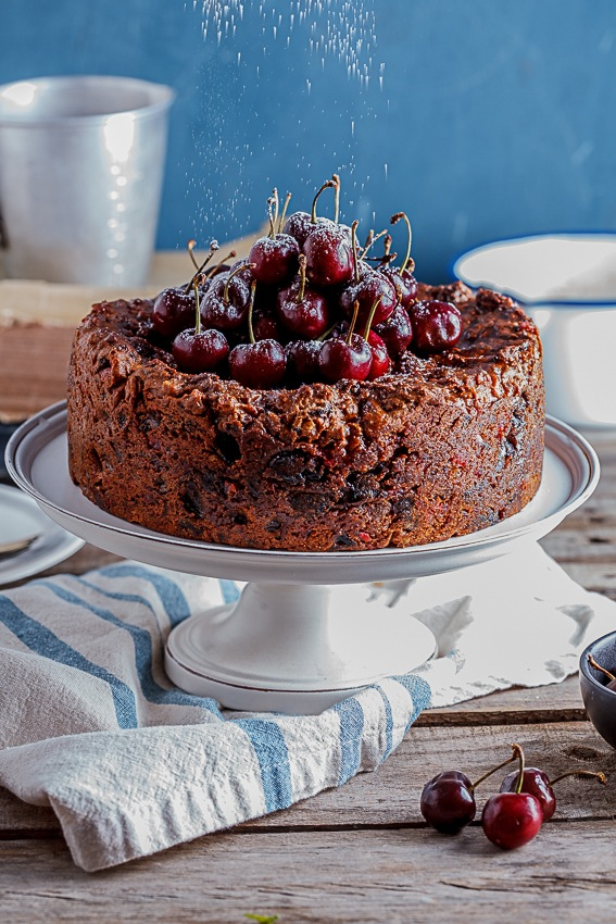 Alida Ryders Classic fruit cake with salted maple syrup
