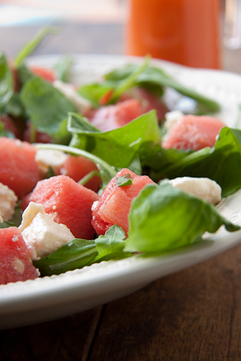 Alida Ryders Watermelon Feta & Rocket Salad