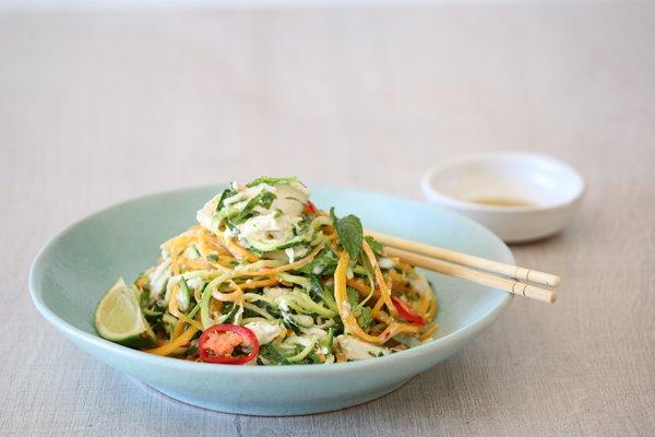 Carey Boucher Erasmuss Thai Chicken & Veggie Noodle Salad