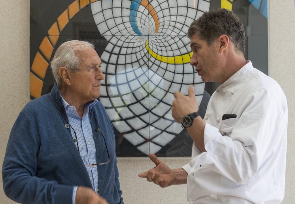 Morgenster Owner Giulio Bertrand with Restaurateur Giorgio Nava