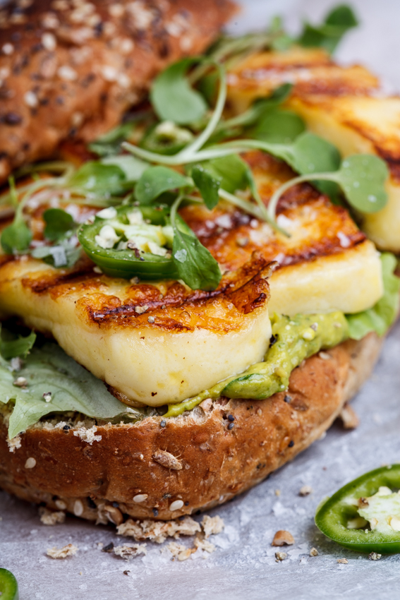 Alida Ryders Spicy green goddess sandwich with halloumi