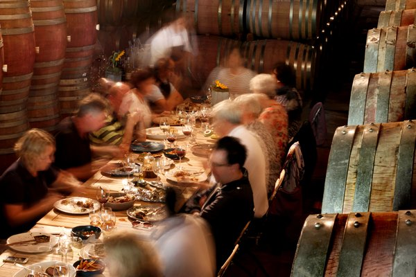 Vergeneoegd Harvest Lunch in the Cellar