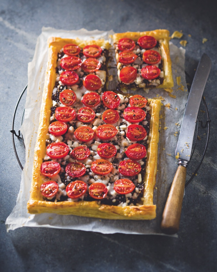 Goat's Cheese and Tomato Tart with Caramelised Red Onion Recipe
