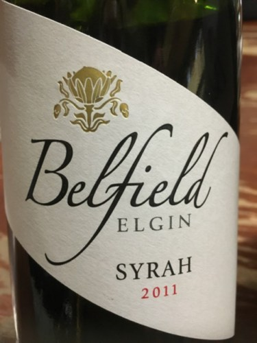Belfield Syrah 2011 2