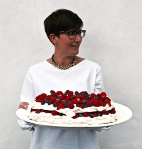 Justine Wall with Berry Meringue