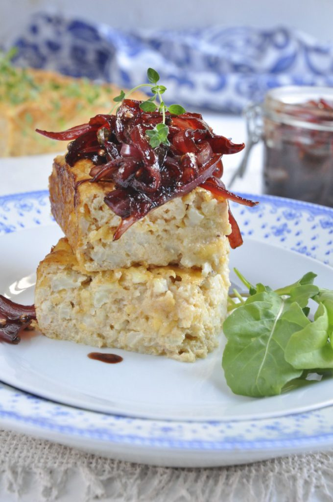 Nina Timms Cauliflower Bake with Red Onion Marmalade