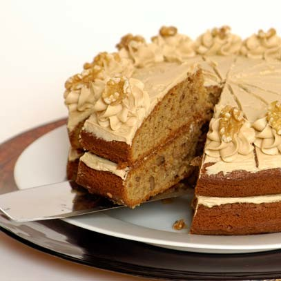 Ina Paarmans Coffee & Walnut Cake with Butter Icing
