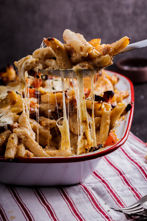 Roasted-butternut-and-mozzarella-pasta-bake-2