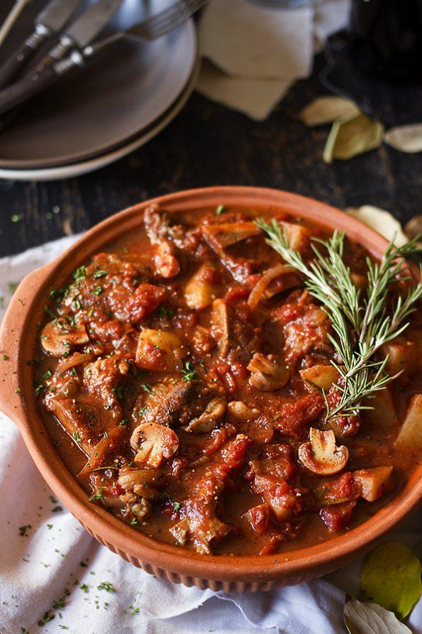 Anina Meyers Paprika Beef Tomato Mushroom Stew