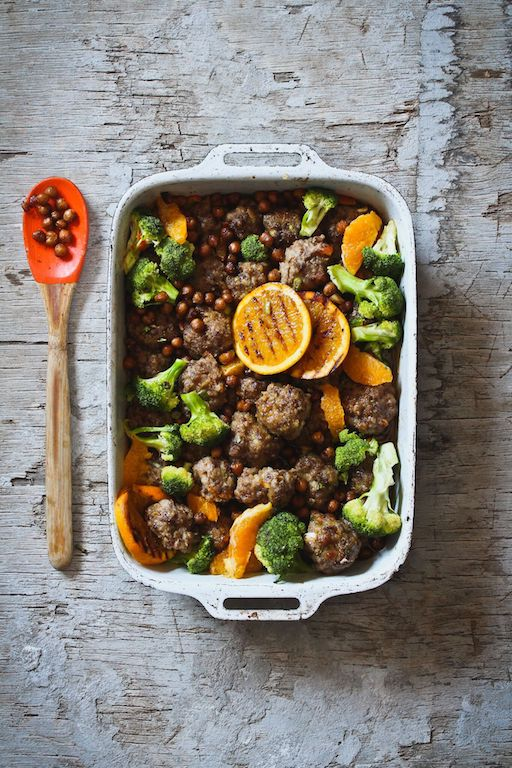 citrus-meatballs-with-roasted-chickpeas-and-broccoli