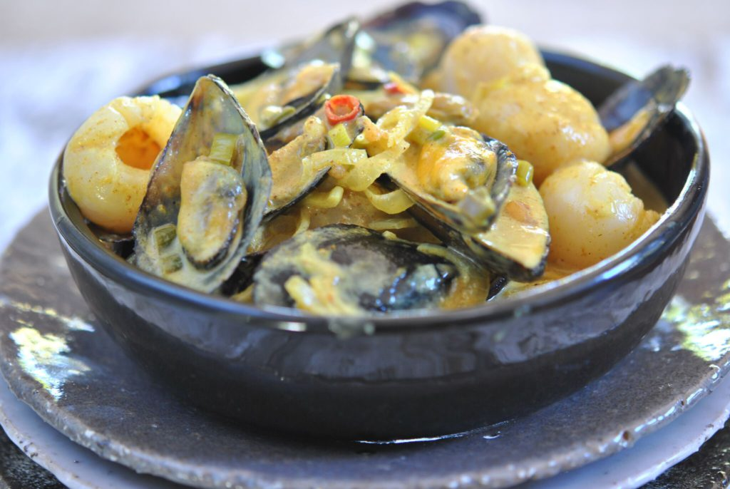 Sophia Lindop's Mussel & Litchi Curry